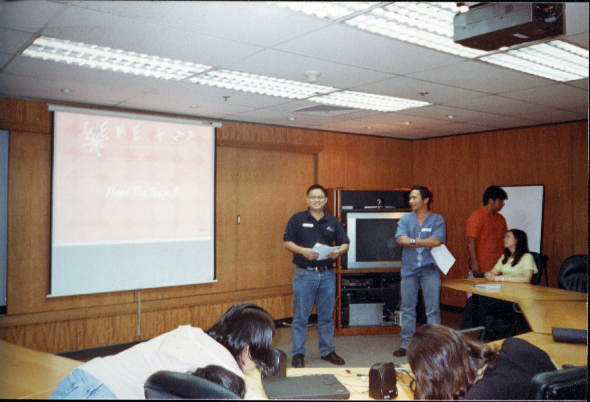 Because it's #throwbackthursday, I am adding this old photo where Romeo and I were presenting in our CEMEX Office in the Philippines. We invited our families for the weekend to visit our office and tour one of our cement plant.